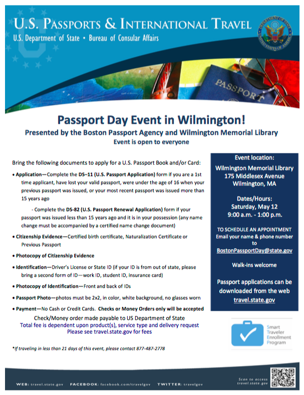 NEED TO GET OR RENEW YOUR PASSPORT? Wilmington Library & Boston ...