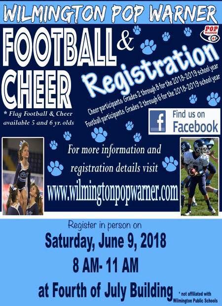 Wilmington Pop Warner Registration Night