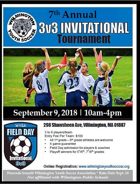 Wilmington Youth Soccer 3v3 Tournament