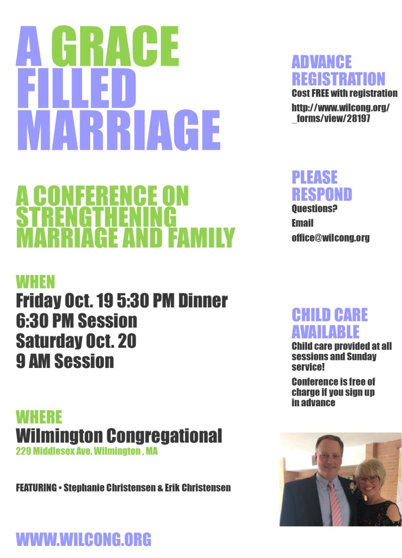 Grace filled Marriage 2018 flyer