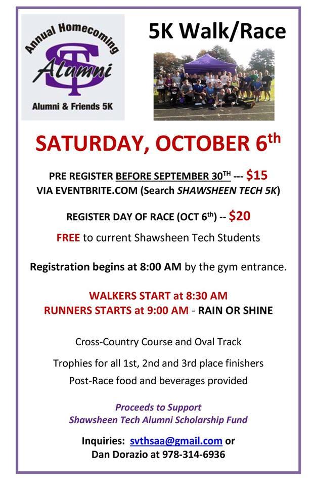 Shawsheen Tech Alumni 5K