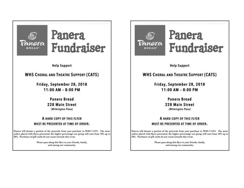 WHS CATS Panera Bread Fundraiser