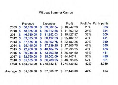 Wildcat Summer Camps