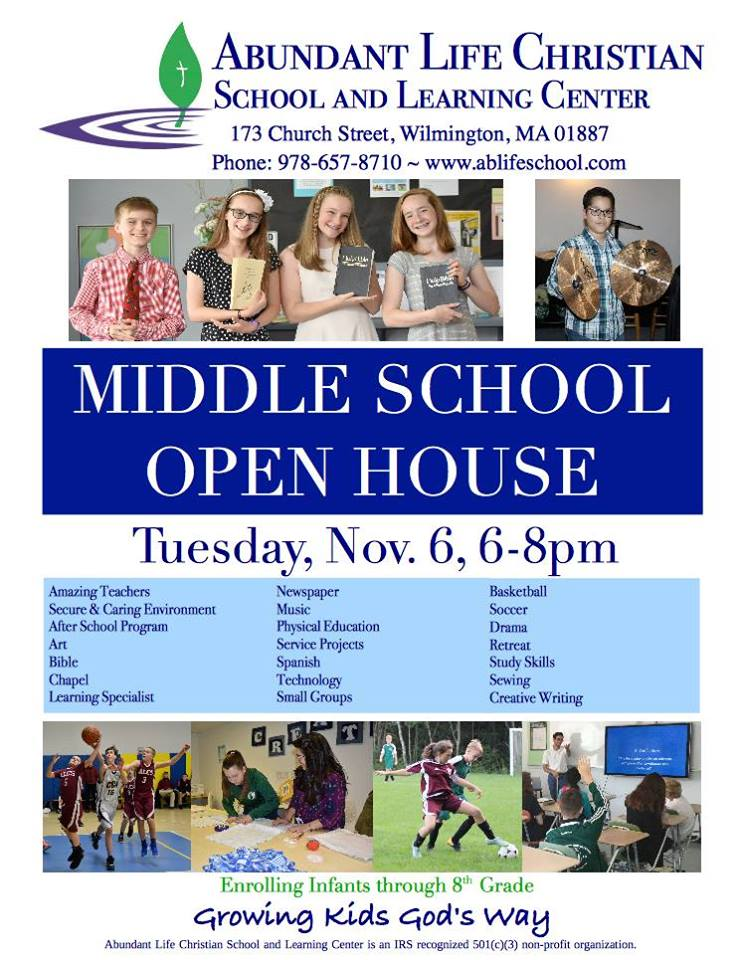 Abundant Life Middle School Open House