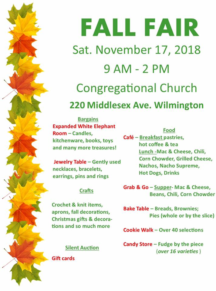 Congregational Church Fall Fair
