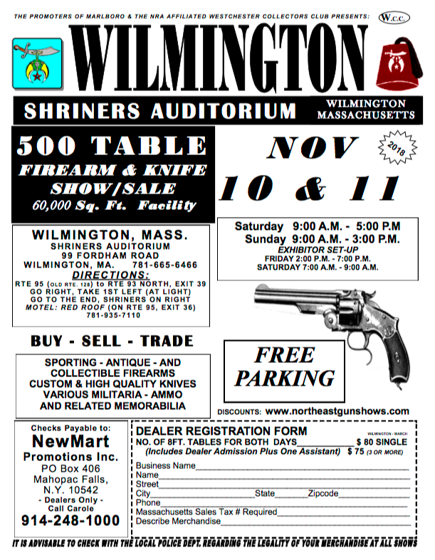 Huge Gun Show Returns To Wilmington On November 10 11 Wilmington Apple