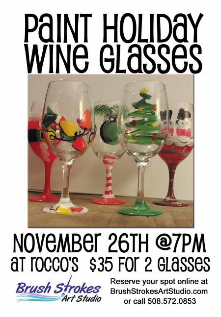 Paint Holiday Wine Glass