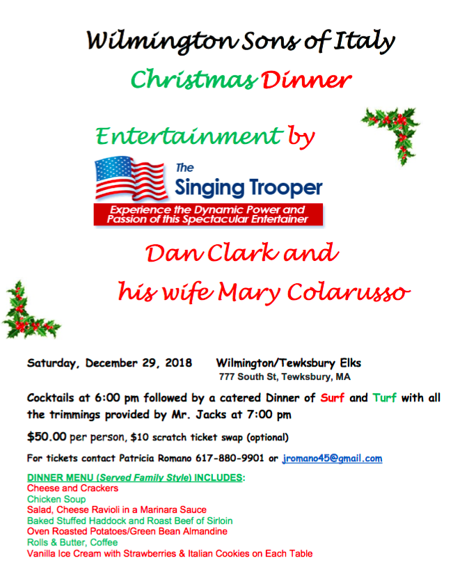 Wilmington Sons of Italy Christmas Dinner
