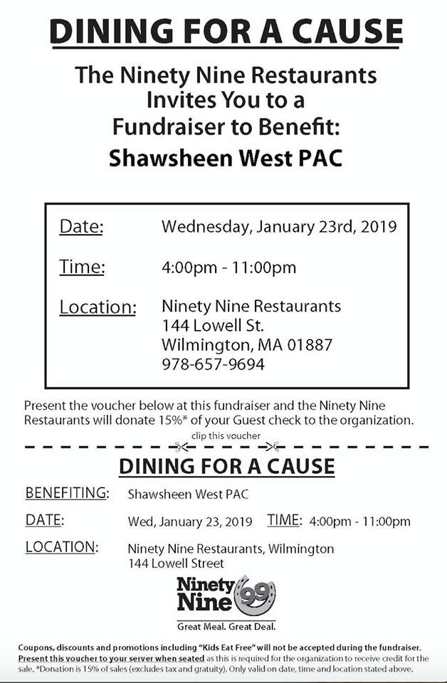 shawsheen west pac 99 fundraiser
