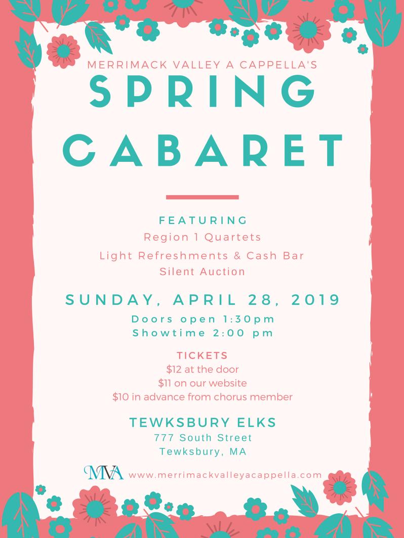 MVA Spring Cabaret 2019 poster - final