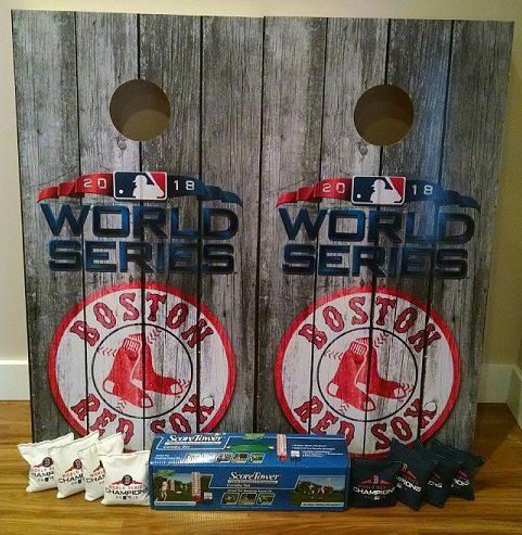 Red Sox Custom Cornhole