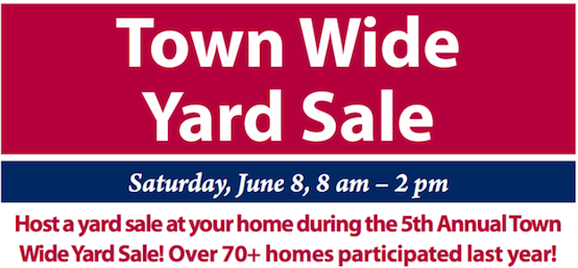 LIBRARY LINEUP: Town Wide Yard Sale Coming Up On June 8, Deadline To