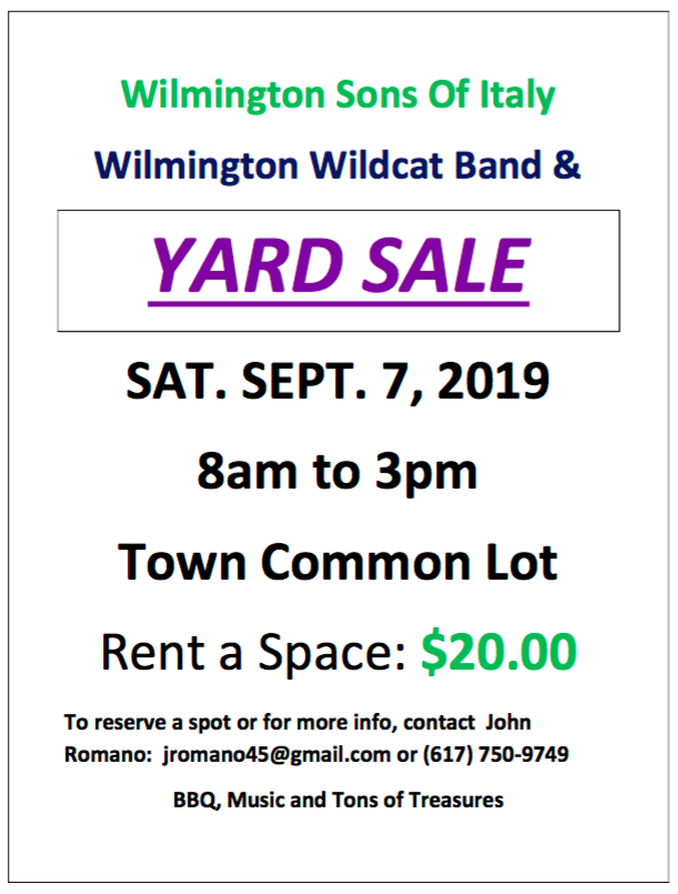 Band Parents Yard Sale