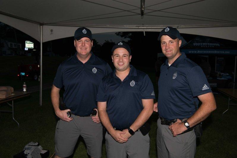 Officers Brian Thorton, Mike Cabral and Dan Furbush