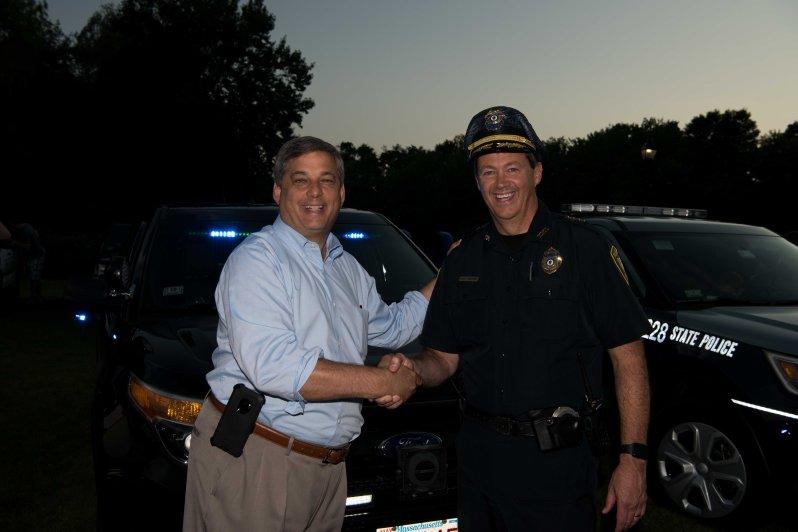 Senator Bruce Tarr and Wilm Police Chief Joseph Desmond