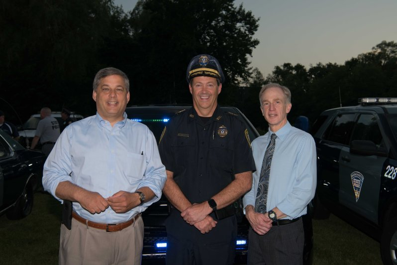 Senator Bruce Tarr, Wilm Police Chief Joseph Desmond and Wilm Town Manager Jeff Hull