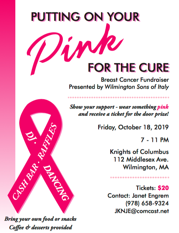 Wilmington Sons of Italy Breast Cancer Fundraiser