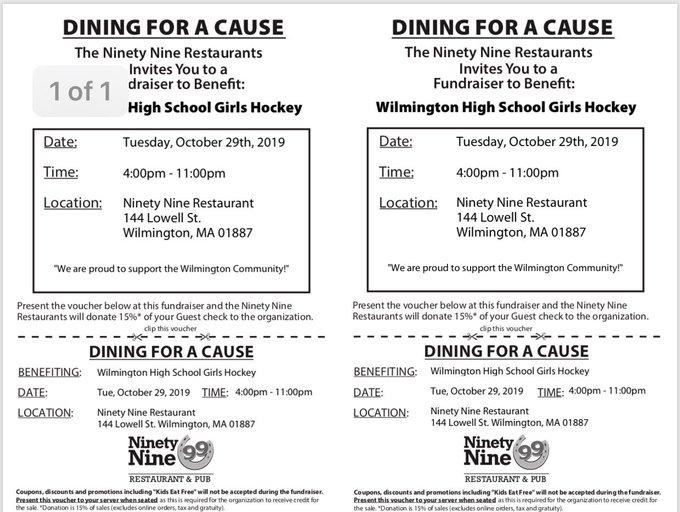 WHS Girls Hockey 99 Fundraiser
