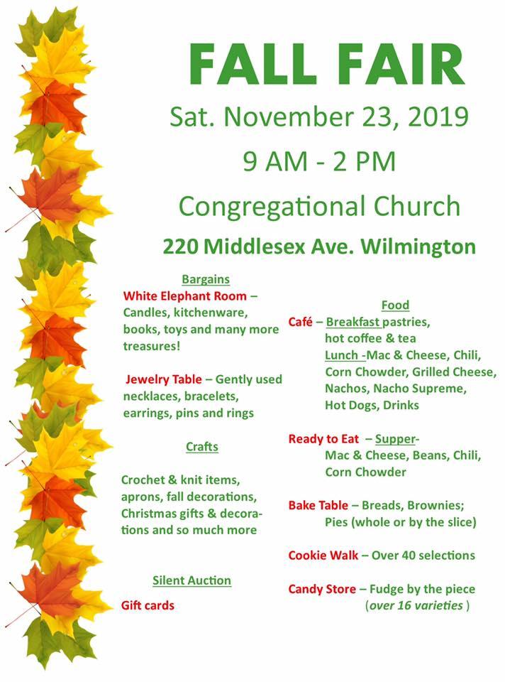 Fall Fair Congregational Church