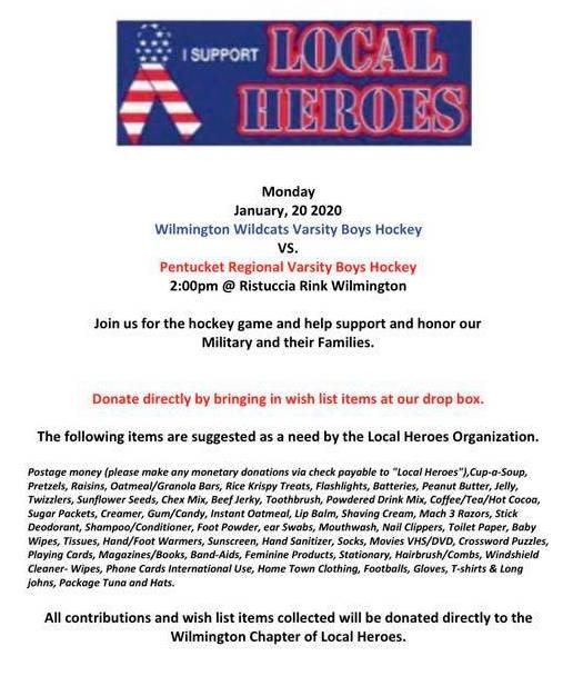 WHS Local Heroes Hockey Game