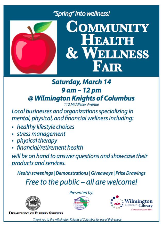 Wilmington Library Community Health & Wellness Fair