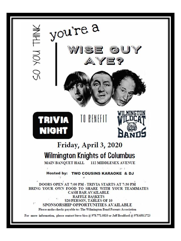 Wilmington Band Trivia Night