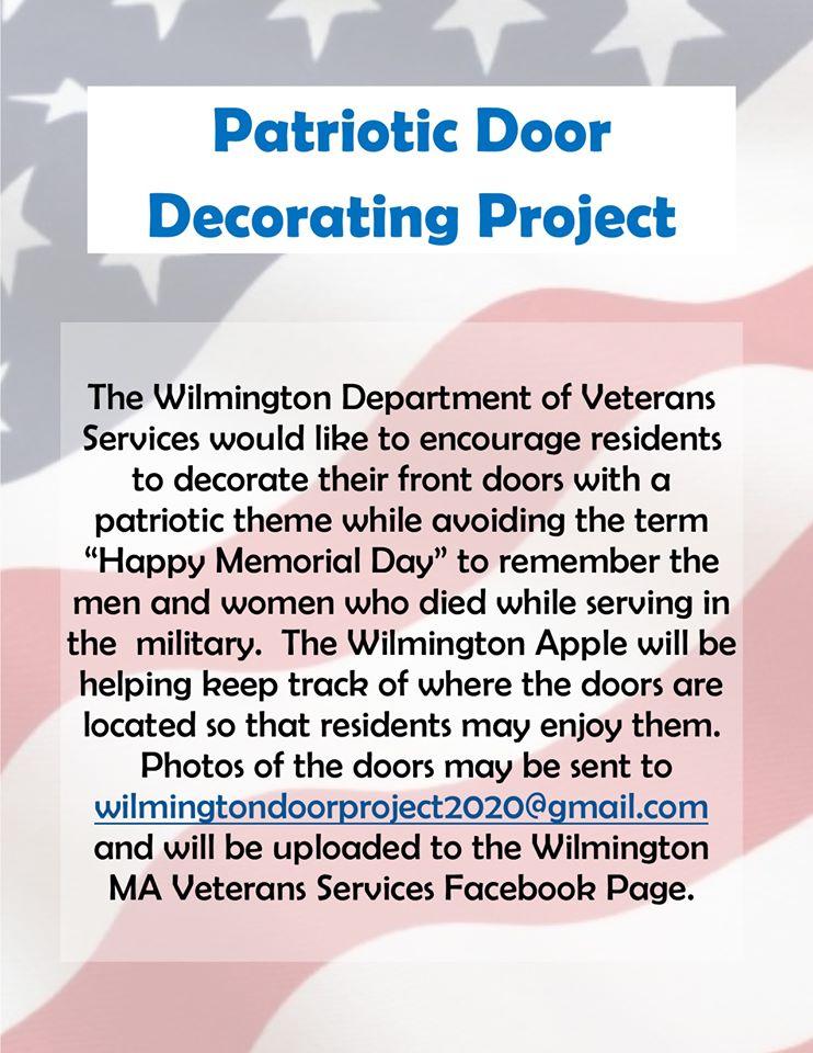 Patriotic Decorating Door