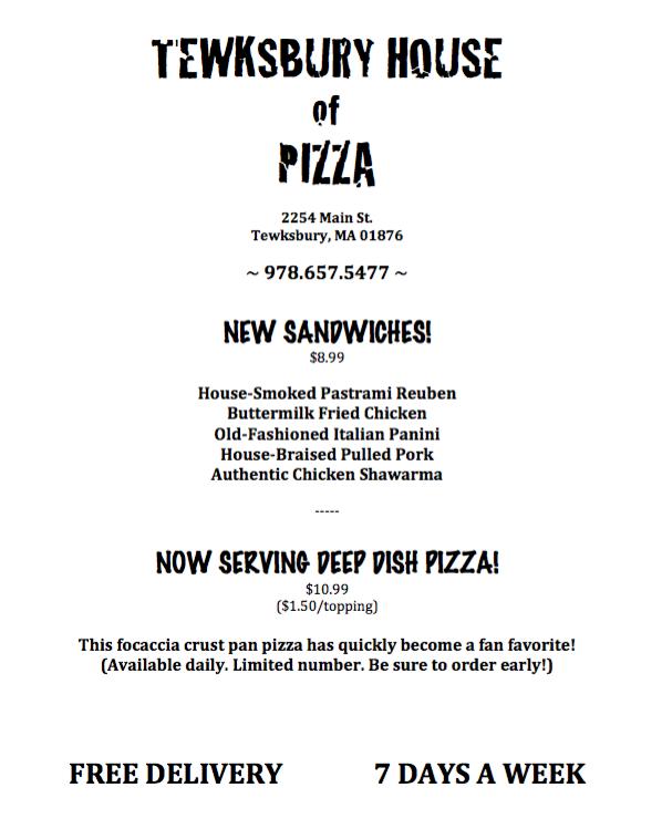 Tewksbury House of Pizza