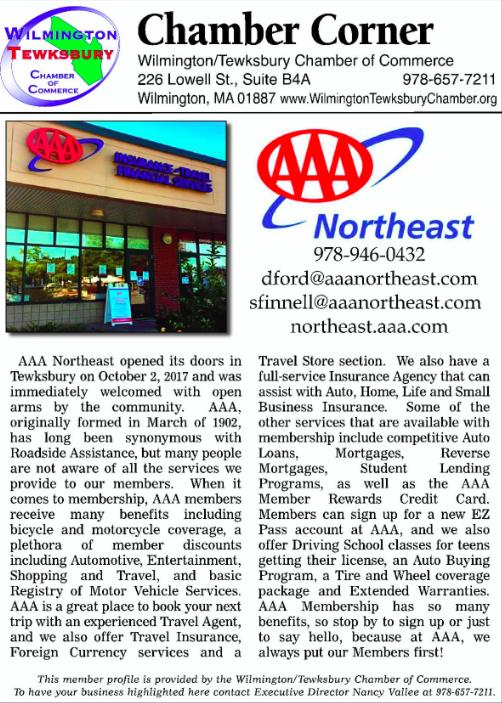 AAA Northeast Chamber Corner
