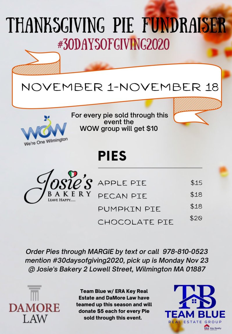Thaksgiving Pie Fundraiser