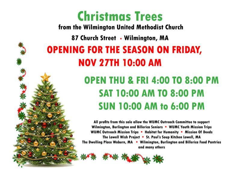 WUMC Christmas Trees