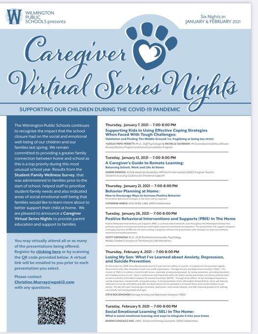 Caregivers Virtual Night Series