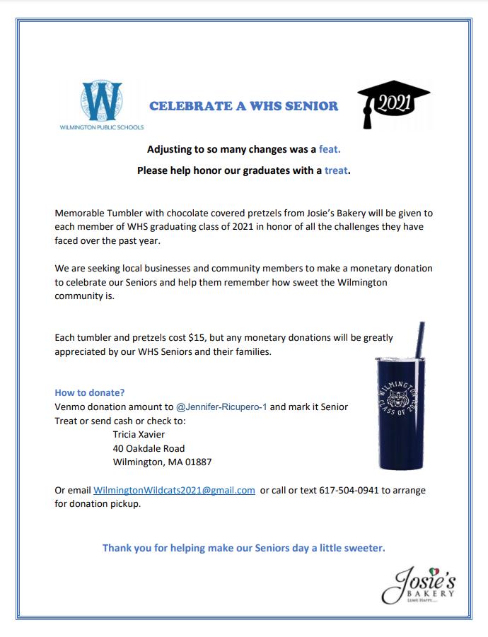 Celebrate A WHS Senior