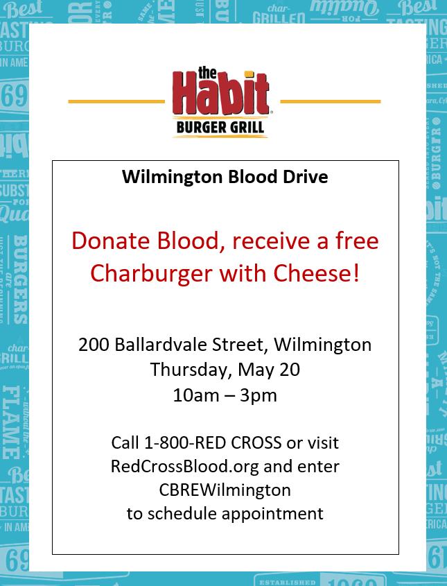 Habit Burger Blood Drive