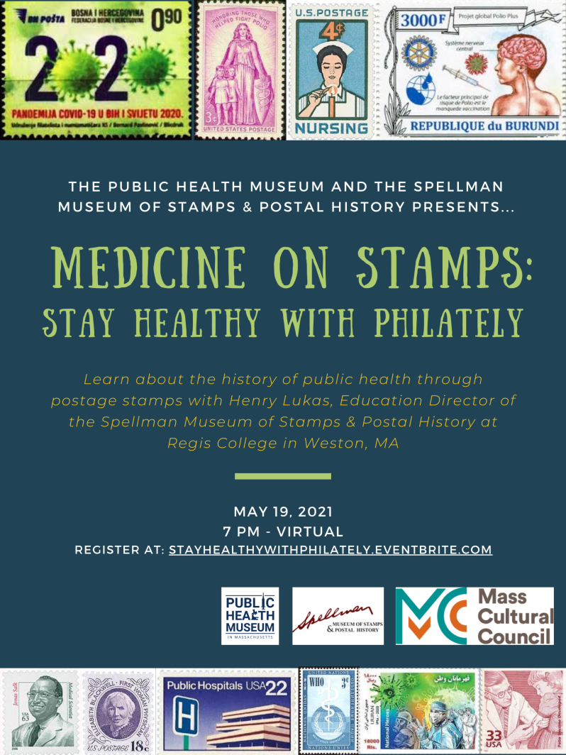 MEDICINE ON STAMPS STAY HEALTHY WITH PHILATELY Poster (002)