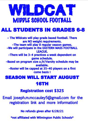 Wildcat Middle School Football