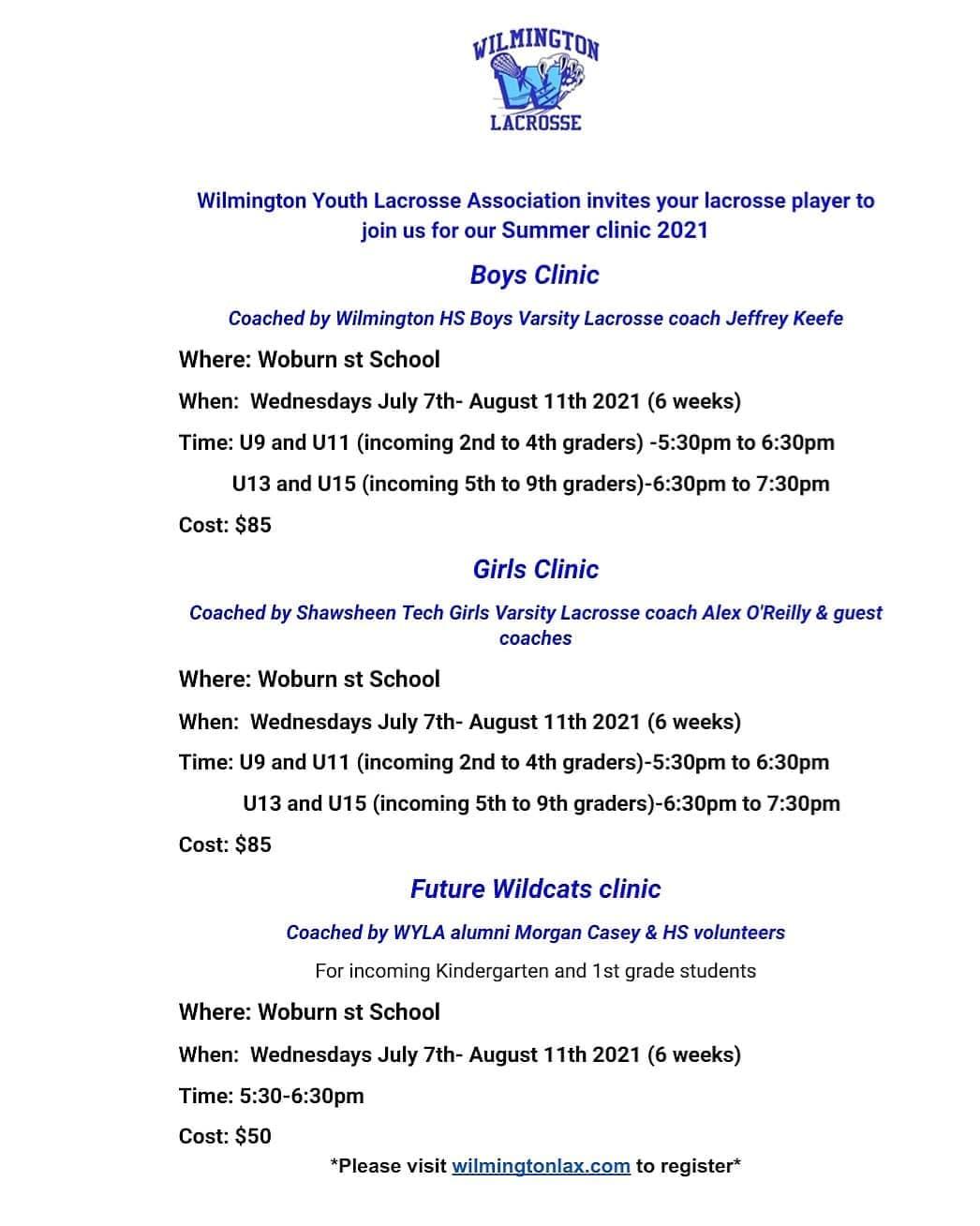 Wilmington Lacrosse Clinics