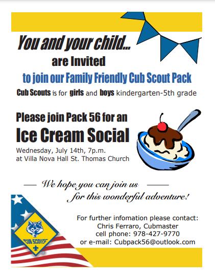 Wilmington Cub Scouts Ice Cream